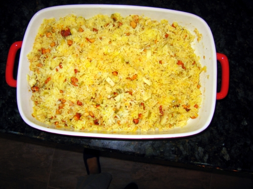 Golden Basmati Rice with Apricots