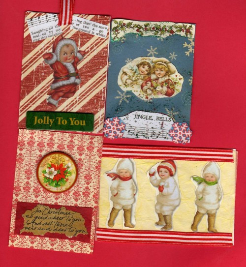 Christmas ATCs by Kerry Vincent